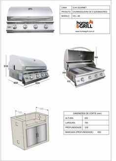 Churrasqueira a Gás home & GRILL DELUXE PREMIUM HG-4B - Home&Grill…