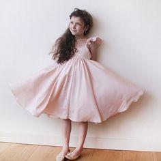 Pink girls butterfly dress