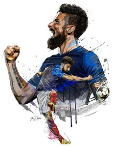 Hotel Equipe de France de Fussball-Weltmeisterschaft auf Wacom Gallery – taeyeon – Join the world of pin Art Football, Football 2018, Best Football Players, Soccer Players, College Football, Soccer Drawing, Giroud, Soccer Pro, Messi Soccer