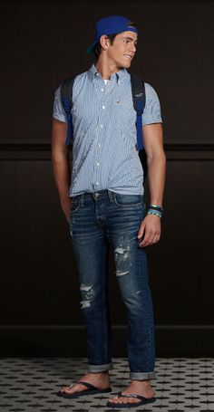Mode Masculine, Teen Boy Fashion, Mens Fashion, Hollister Clothes, Middle School Outfits, Frat Guys, Preppy Boys, Casual Wear For Men, Casual Man