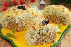 wesoła kuchnia: Kalafior nadziewany mielonym Mashed Potatoes, Grains, Rice, Ethnic Recipes, Food, Whipped Potatoes, Meal, Mashed Potato Resep, Eten