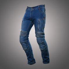 Mens Stone Edge Top Harley Man Super Skinny Stretch Fit Jeans Biker Blue