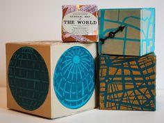 Mary C. Nasser Artist Trading Blocks. Stencils by StencilGirl