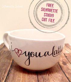 Love You a Latte Mug: Free Silhouette Studio Cut File ~ Silhouette School