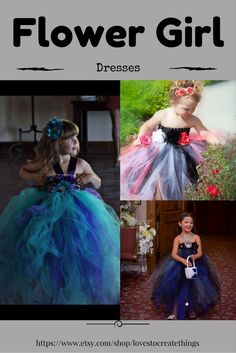 Beautiful and Full, Tulle Flower girl dresses