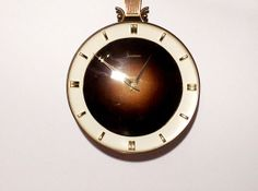 Vintage German Wooden Wall Clock Junghans Art by SunnysVintage, $93.90