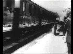 """""""Larrivée dun train à La Ciotat (1895) - frères Lumière (The Arrival of a Train at La Ciotat Station)"""", (1895) / Directors: Auguste Lumière, Louis Lumière / world's first movie #video Boulevard Des Capucines, Image Positive, Film School, The Brethren, Urban Legends, Train, Silent Film, Documentary Film, Running Away"""