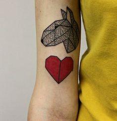 English Bull Terrier Tattoo for girls