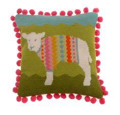 Woolly needlepoint kit at www.madinengland.com
