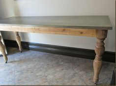 Zinc Table Top   Kitchen | For The Home | Pinterest | Zinc Table, Kitchens  And Tables