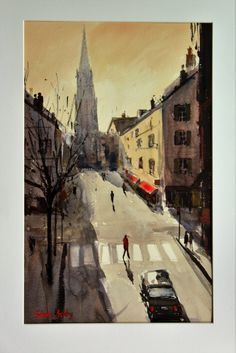 Brive, France France, Watercolor, Artist, Paintings, Pen And Wash, Watercolor Painting, Watercolour, Painting Art, Painting