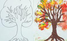 Jesienne prace plastyczne 10 inspiracji do druku - Moje Dzieci Kreatywnie