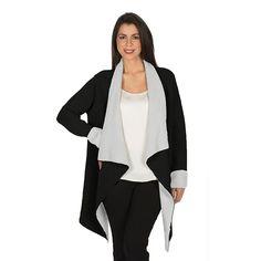 Women's Harve Benard Colorblock Open-Front Cardigan, Size: