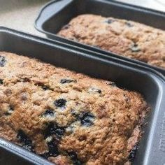Blueberries and zucchini baked up into delicious little summertime bread loaves! Used 3 cups zucchini and as brown instead of white Blueberry Zucchini Bread, Best Zucchini Bread, Zucchini Bread Recipes, Blueberry Recipes, Zuchinni Bread, Zucchini Pancakes, Broccoli Recipes, Tortillas, Biscuits