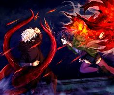 WHY - Tokyo Ghoul by Rouisu on DeviantArt wanted to express Touka's feelings of anger and sadness towards Kaneki by a fight between the two of them.