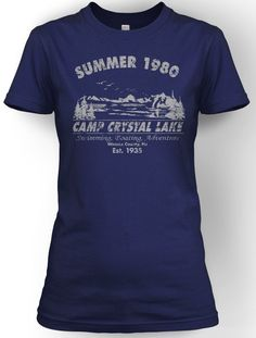 5fa56cba4afc64 Womens Camp Crystal Lake Summer 1980 T-Shirt Vintage Movie Tee For Girls  Family Reunion
