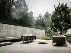 Outdoor patio // The Fall House designed by Fougeron Architecture