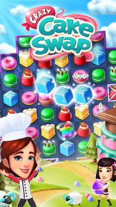 Crazy Cake Swap v1.18.1 (Mod)   Crazy Cake Swap v1.18.1 (Mod)Requirements: 4.1 Overview: Swap cakes in a crazy match-3 adventure starring YOU and YOUR friends! Escape to a crazy world where streets are filled with treats and YOU are the star baker. Satisfy YOUR friends cravings for sweets as you serve treats to become the best baker in the land.  Increasingly challenging puzzle play includes new ways to match and win. Solve hundreds of crazy cascading levels and match your way to sweet…