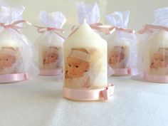 Baptism candle Baptism favors Christening favors Personalized candles Picture candles Monogrammed candles Party favors Candles are scented. Please start custom request following the link Request a custom order and have something made just for you. >> How many candles do you need?; >> Date