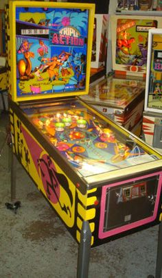 Pinball machines for sale, pinball game restoration and pinball service and more.