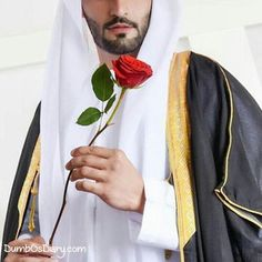 Muslim boy with a red rose in hand Muslim Men, Muslim Couples, Arab Men Fashion, Rose In Hand, Royal Family Pictures, Arab Swag, Dubai, Lavender Aesthetic, Romantic Roses