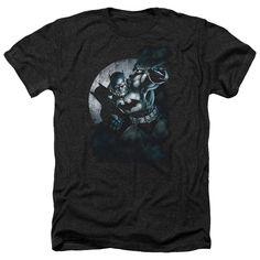 Batman/Batman Spotlight Adult Heather T-Shirt in