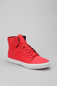 & him = yummy Supra Sneakers, Supra Shoes, Red Sneakers, High Top Sneakers, Supra Footwear, Chad Muska, Me Too Shoes, Men's Shoes, Supra Skytop