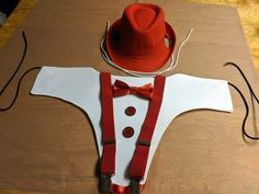 Red Costume for Ponies or Minis - Tuxedo Breast Plate with Bowtie, Suspenders, and Fedora 1940s Costume, James Cagney, Horse Costumes, Humphrey Bogart, Horse Head, Look Alike, Fedora Hat, Suspenders, Ponies