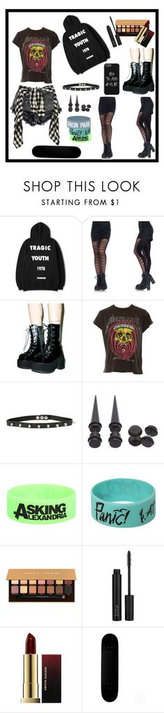 """""""RIP my tragic youth"""" by onlydreams4ever ❤ liked on Polyvore featuring Leg Avenue, MadeWorn, Hot Topic, Anastasia Beverly Hills, ZOEVA and Kevyn Aucoin"""