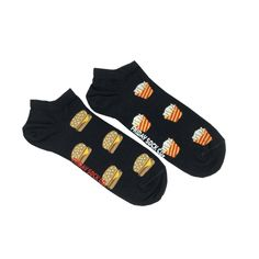 Men's Burger and Fries Ankle Socks | Mismatched by Design | Friday Sock Co. Ethically made in Italy. Click the link to see more designs!