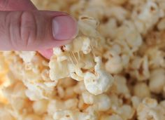 Quick Caramel Popcorn {Made in the Microwave!} This is the EASIEST most ADDICTING popcorn and only takes 4 ingredients. One being marshmallows. If that didn't grab your attention you may need to check to make sure you have a pulse.