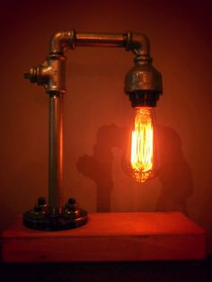 DIY | Pipe Lamp | Vintage| Edison | Industrial Lamp Diy Pipe, Pipe Lamp, Industrial, Deco, Projects, Vintage, Log Projects, Deko, Industrial Music