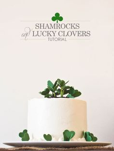 Shamrock Cake Tutorial by Miso Bakes     TheCakeBlog.com    I love all of her cakes, so talented and such simple elegance!