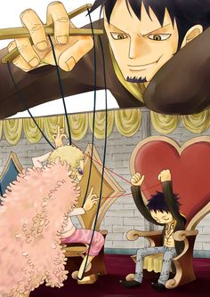 One Piece - Doffy and Law - Marionette One Piece Meme, Anime One Piece, Go Wallpaper, Mobile Wallpaper, One Piece Drawing, Fanart, Chinese Cartoon, Real Anime, Trafalgar Law