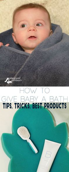 How to Give Baby a Bath - Giving your newborn baby their first bath can be scary!  They are tiny, floppy and super slippery when wet and soapy.  After 3 babies of my own, learn my best mom tips, tricks and product recommendations to keep your baby clean, and free from toxic chemicals. | Baby | Baby Care | First Time Mom | What to Expect | Newborns | Bath | Baby Gear | Baby Registry | Beautycounter |