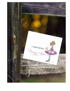Custom personalized girl notecard  personalized by gracieandco, $17.50