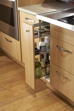 Spice Rack Pullout Storage