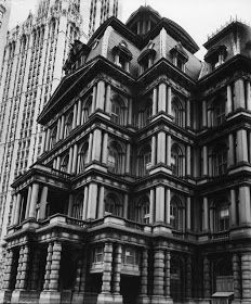 View Old Post Office, Broadway and Park Row, Manhattan, May 25 by Berenice Abbott on artnet. Browse more artworks Berenice Abbott from Jackson Fine Art. Berenice Abbott, New York Architecture, Architecture Images, Architecture Details, Baroque Architecture, Manhattan Buildings, Manhattan Nyc, Lower Manhattan, Old Post Office