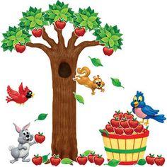 Apple Tree Bulletin Board Set