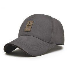 5355a29830c 1Piece Baseball Cap Men s Adjustable Cap Casual leisure hats Solid Color  Fashion Snapback Summer Fall hat