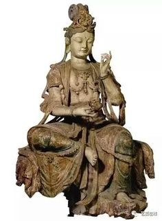 Wood statue of Bodhisattva, Song Dynasty. Collection of National Museum of China
