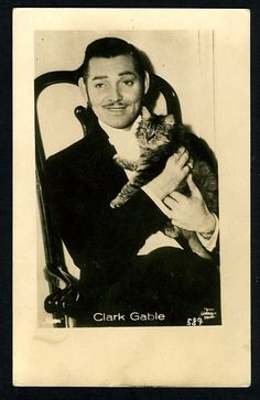 Men who love cats Clark Gable with his cat Men who love cats Clark Gable with his cat Celebrities With Cats, Celebs, Photoshop Celebrities, Smoking Celebrities, Hollywood Celebrities, Crazy Cat Lady, Crazy Cats, I Love Cats, Cool Cats