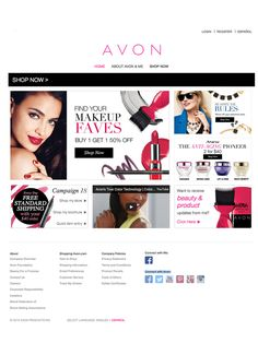 For 130 years Avon has empowered millions of women who are ready to discover the beauty of confidence and financial independence. Avon's award-winning products are favorites of consumers, beauty editors and industry honors. Shop with your Avon Representative online 24/7!
