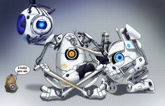 portal 2 bots peabody, atlas, wheatley, glados