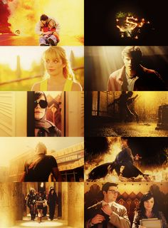 Smallville- Icarus in bottom left corner: made me cry so hard at the end :( love how all the pix are yellowish