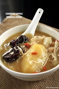 Chinese Apple Herbal Soup