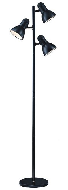 Park Madison Lighting PMF-9543-31 65-Inch Tall Incandescent Tree Floor Lamp with Fully Adjustable Shades and Oversized Turn Knob Switch, Black Finish - - Amazon.com