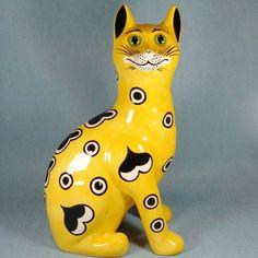 Griselda Hill Wemyss Ware large yellow cat