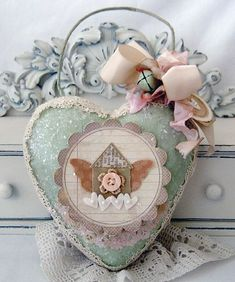love lives here ornament by lilybeanpaperie