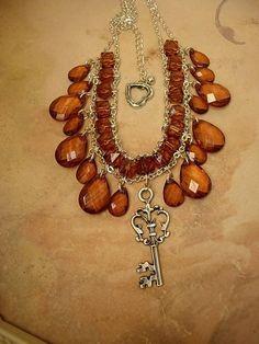 Dripping in prisms skeleton Key Choker necklace festoon renaisssance
